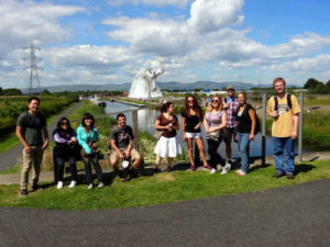 Students visit Falkirk and the Kelpies, 2014 Study Abroad